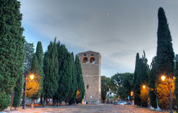 Tower of the St. Giusto basilica, Trieste Royalty Free Stock Image