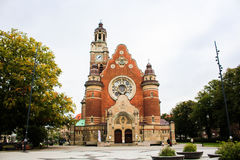Tower of St Johannes Church in Malmo, Sweden.  Royalty Free Stock Image