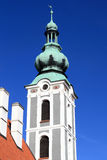 Tower of St. Jost Church in Cesky Krumlov Stock Photography