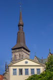 Tower of the St. Marien church in Osnabruck Stock Photos