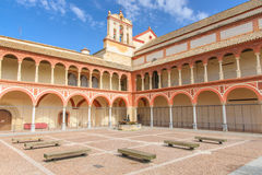 Tower of St. Mary Church, Alhambra of Granada/ Spain. 17th centu Royalty Free Stock Images