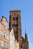 Tower of St Mary's church, Gdansk. Poland Stock Photography