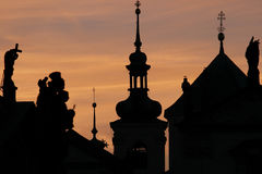 Tower of St. Nicholas Church, Prague Royalty Free Stock Image