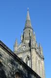 Tower of St Nicholas Kirk, Aberdeen, Scotland. The gothic style tower of St Nicholas, the mither kirk (mother church) of Aberdeen, Scotland. The tower is from Royalty Free Stock Photo