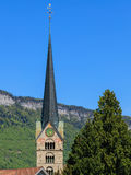 Tower of the St. Peter and Paul church in Stans, Switzerland Royalty Free Stock Photos