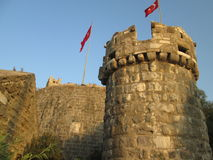 Tower of St. Peter's castle. Bodrum Stock Photo