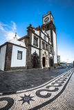 Tower of St. Sebastian church (Igreja Matriz de Sao Sebastiao) i Stock Images