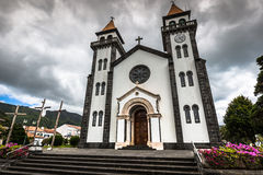 Tower of St. Sebastian church (Igreja Matriz de Sao Sebastiao) i Stock Image