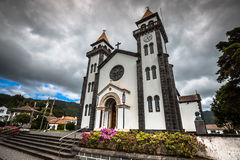 Tower of St. Sebastian church (Igreja Matriz de Sao Sebastiao) i Royalty Free Stock Image