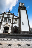 Tower of St. Sebastian church (Igreja Matriz de Sao Sebastiao) i Royalty Free Stock Images