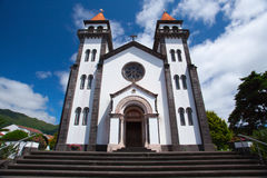 Tower of St. Sebastian church (Igreja Matriz de Sao Sebastiao) i Royalty Free Stock Photos