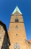 Tower of the St. Simeonis church of Minden Stock Image