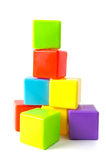 Tower of stacked cubes Royalty Free Stock Images
