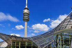 Tower of stadium of the Olympiapark in Munich Stock Photography