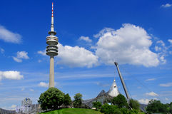 Tower of stadium of the Olympiapark in Munich Stock Image