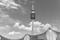 Tower of stadium of the Olympiapark in Munich Royalty Free Stock Image