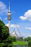 Tower of stadium of the Olympiapark in Munich Stock Photos