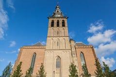 Tower of the Stevens church in Nijmegen Stock Photos