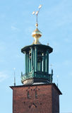 Tower of Stockholm City Hall Stock Image