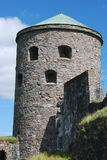 Tower of stone at Bohus Fortress Royalty Free Stock Photography