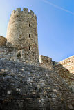 Tower of stone fortress in Belgrade stock images