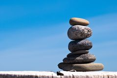 A tower of stones Stock Photo