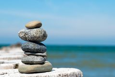 A tower of stones Stock Photos