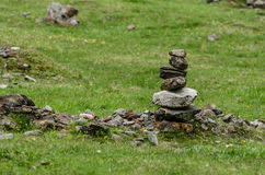 Tower with stones in nature Stock Photos
