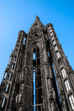 Tower of Strasbourg Cathedral isolated Royalty Free Stock Photography