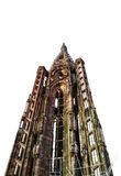 Tower of Strasbourg Cathedral isolated Stock Image