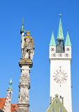 Tower in Straubing, Bavaria Stock Images