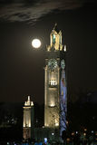 Tower and super moon Stock Photography