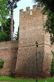 Tower in surrounding walls of Rome Stock Photography
