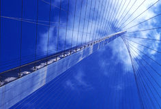 Tower Suspension. Wires Secure the tower to a bridge Royalty Free Stock Photography