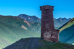 Tower. Svaneti tower on caucasus mountain Royalty Free Stock Image