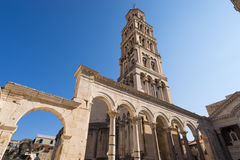 Tower Sveti Duje of Split cathedral, Croatia Royalty Free Stock Photo