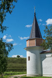 Tower in the Svjato-Uspenskom monastery. Of the 12th century Stock Image