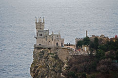 Tower Swallow's nest on Black sea Royalty Free Stock Photography