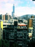 this the 101 tower in taipei taiwan, royalty free stock photos