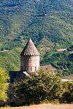 Tower of Tatev Monastery in Armenia Royalty Free Stock Photo