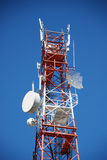 Tower with telecommunications antennas Stock Images