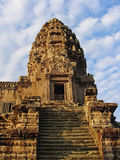 The tower of the temple of Angkor Wat. Cambodia. Royalty Free Stock Photography