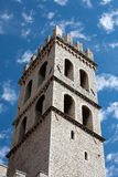 The tower of the Temple of Minerva in Assisi Royalty Free Stock Photos
