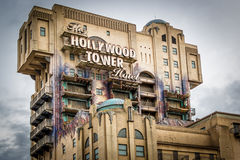 Tower of Terror attraction building Stock Images