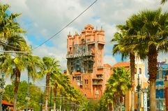 Tower of Terror. Disney's Hollywood Studios' main attraction the Tower of Terror in Orlando, Florida stock images