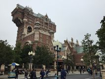 Tower of Terror. The Twilight Zone Tower of Terror is an accelerated drop dark ride located at Tokyo Disney Sea stock image