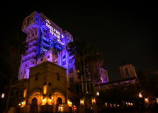 The Tower of Terror. The Twilight Zone Tower of Terror attraction at the California Adventure theme park stock images