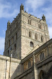 Tower of Tewkesbury Abbey Church Royalty Free Stock Photography