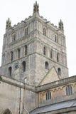 Tower of Tewkesbury Abbey Church, England Royalty Free Stock Photos