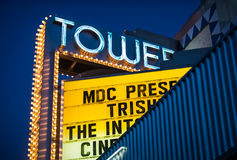 Tower Theater in Little Havana, Miami. Stock Images